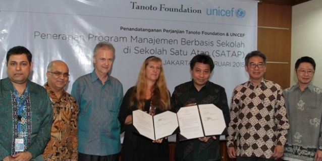 Tanoto Foundation signed an agreement with United Nations International Children's Fund (UNICEF)