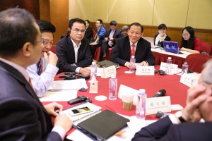 RGE Chairman Sukanto Tanoto with delegates at the Boao Forum