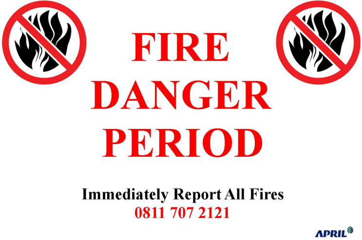 APRIL Group announced a 'Fire Danger Period' from July 1 to August 31, 2015.