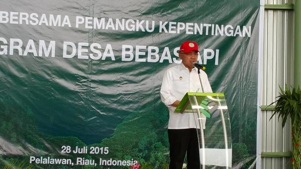 Riau Governor A Rachman - Prevention is key. We commend APRIL for initiating this programme