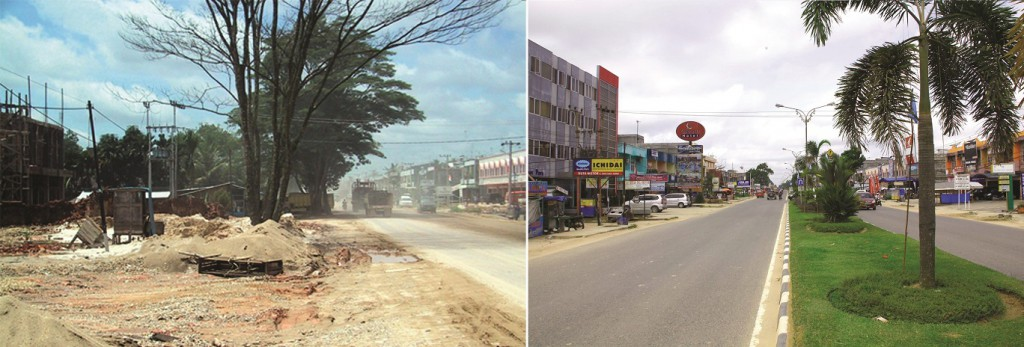 Kerinci in 1993 and 2013. RGE companies are community-minded and continue to to play their role in improving infrastructure and developing communities, infrastructure and the local economy.