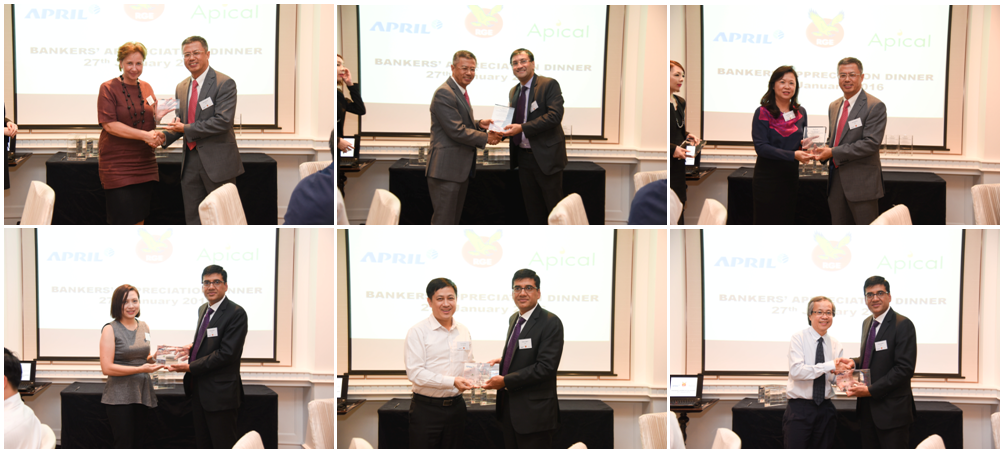 RGE Vice-Chairman Bey Soo Khiang and APRIL Group President Praveen Singhavi presented tokens of appreciation to our partnering banks