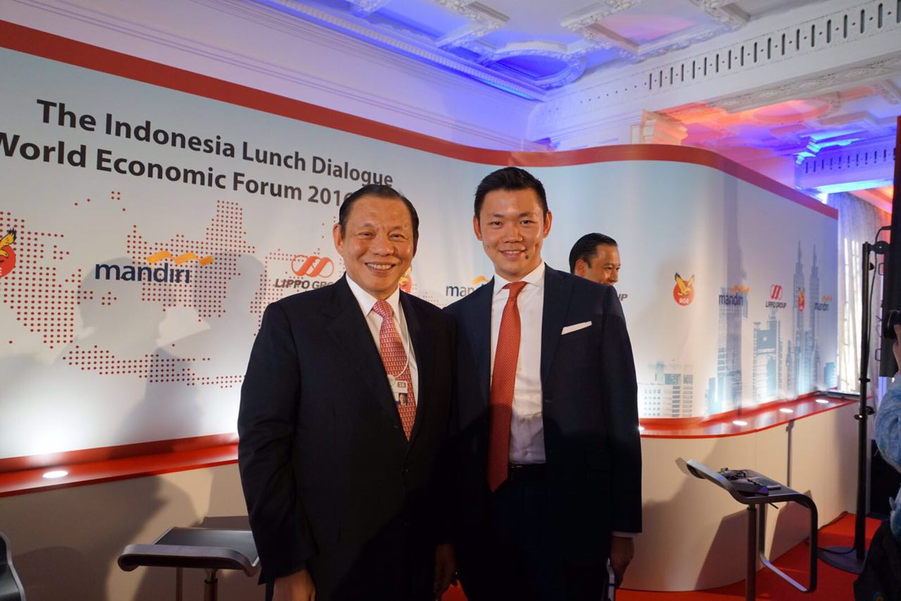 Sukanto Tanoto and Anderson Tanoto at the Indonesia Lunch Dialogue, which was co-sponsored by RGE