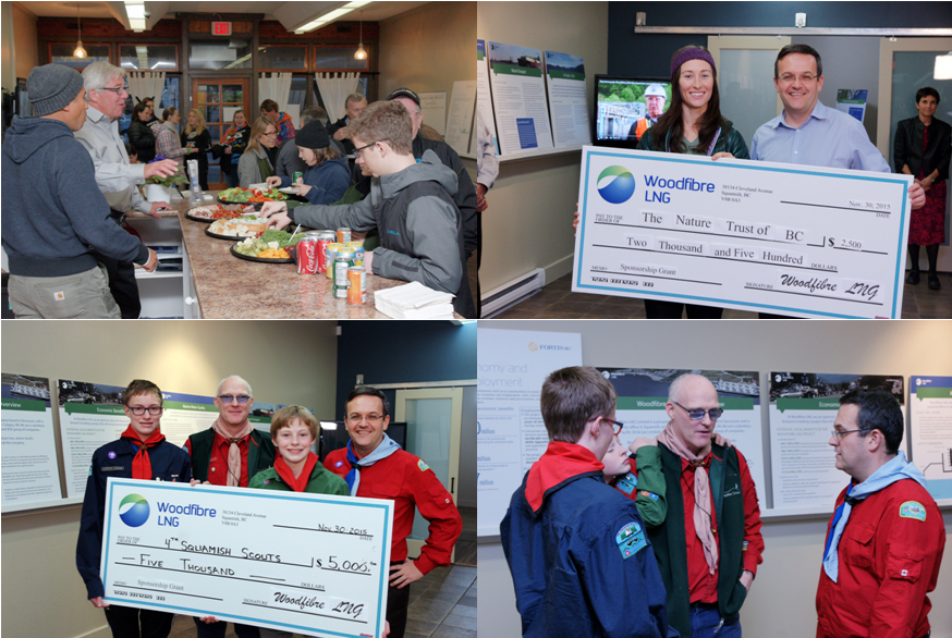 Above: Photos from Woodfibre LNG's Community Partnership Program party