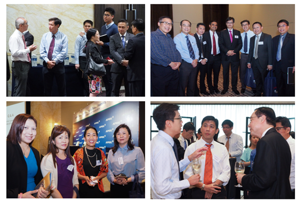 Guests interacted with APRIL management