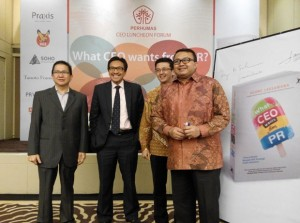 "Mr Laksamana at the launch of his book ""What CEO wants from PR"" earlier this year."
