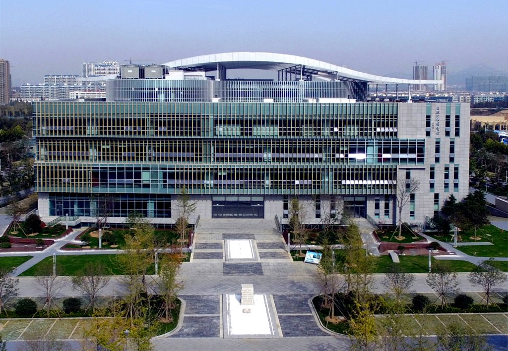 The spanking new Rizhao Jianghe Library.