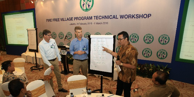 Technical workshops were held to help community stakeholders implement the Fire-Free Village Programme