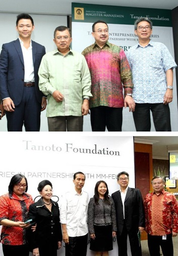Anderson Tanoto and Imelda Tanoto at Tanoto Entrepreneurship Series 2013