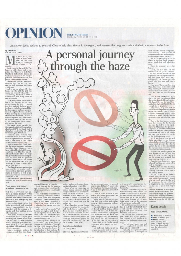 Simon Tay - Personal Journey Through the Haze