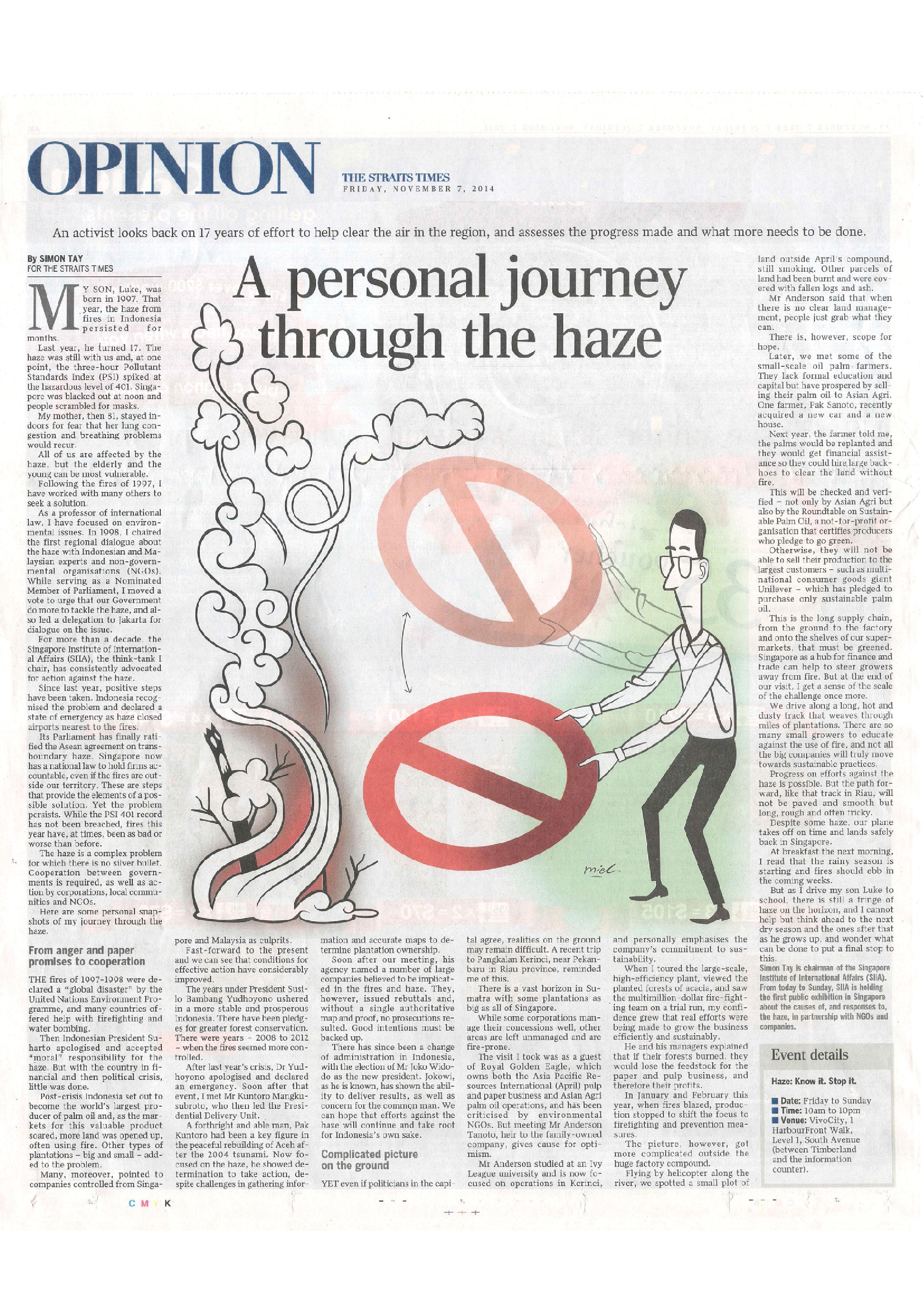 Simon Tay - Personal Journey Through the Haze