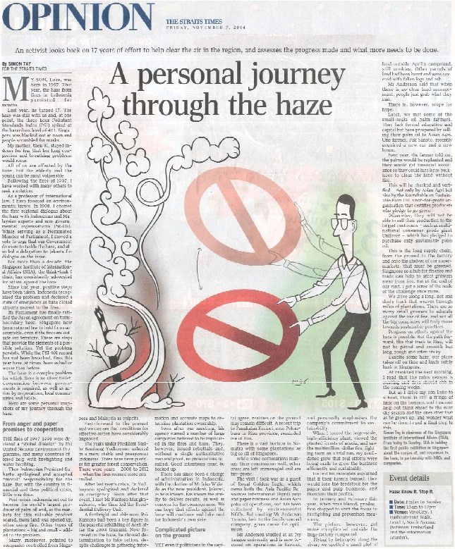 Simon Tay Personal Story Through Haze