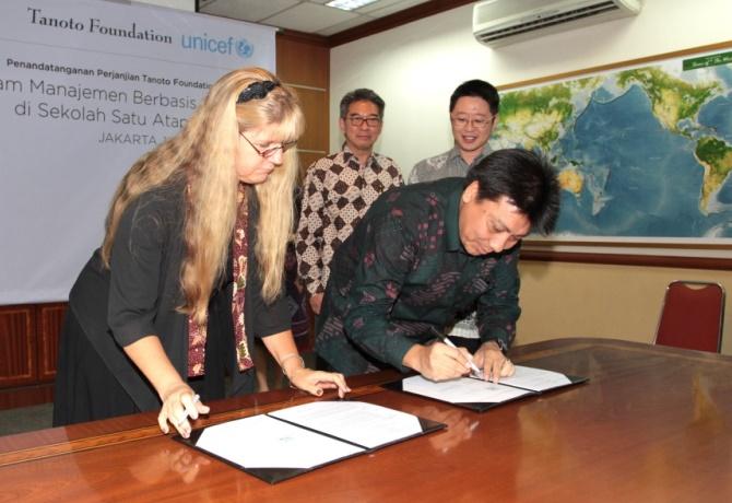 Tanoto Foundation and Unicef Sekolah Satu Atap