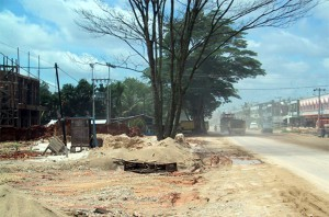 A road in Kerinci in 1993