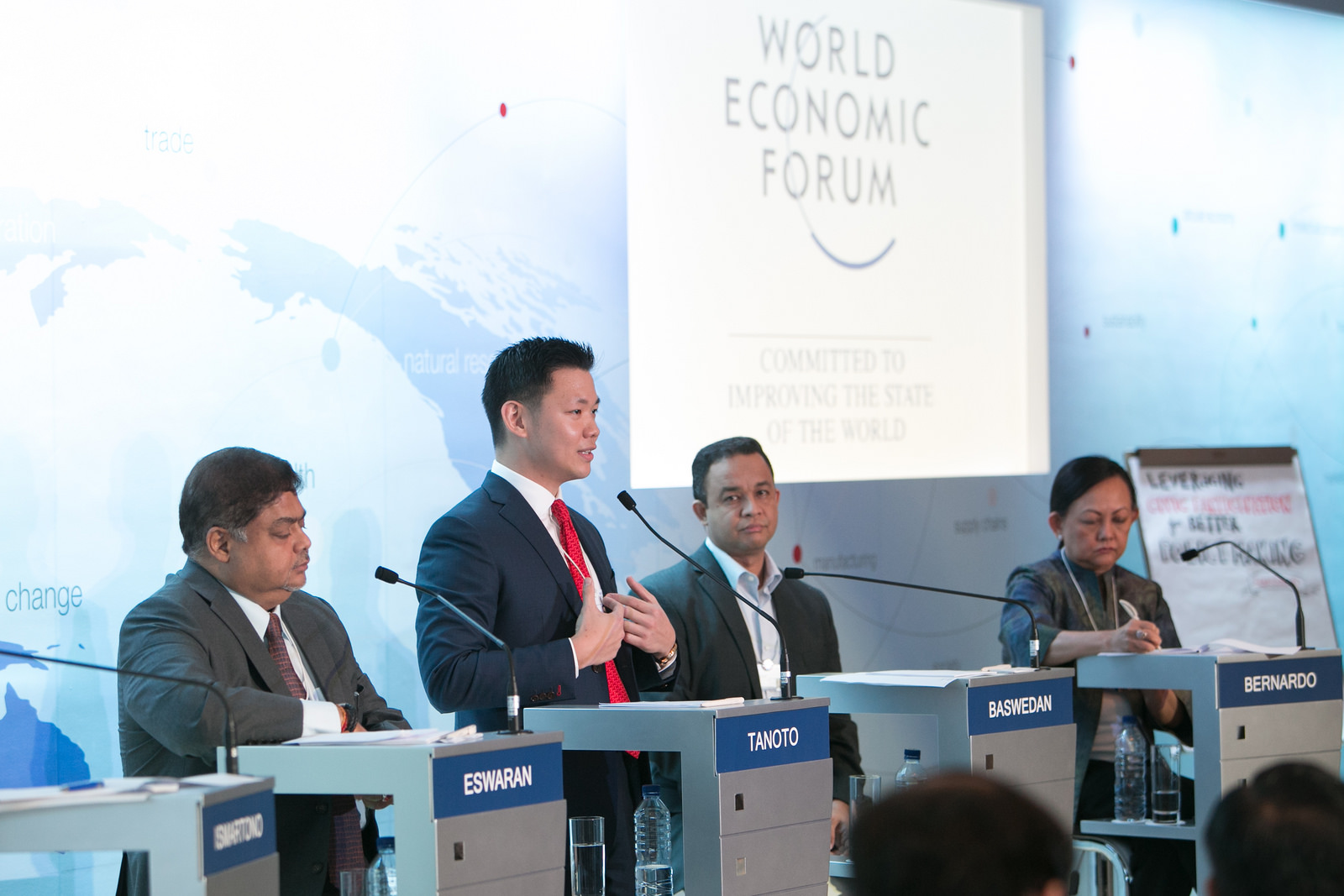 Anderson Tanoto speaking at the World Economic Forum on East Asia 2015.