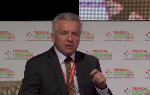 Dr Tony Simons at the Tropical Landscapes Summit 2015, Food Security plenary session