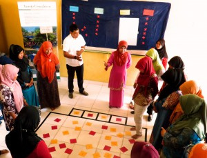 Pelita Pendidikan teachers at a training session