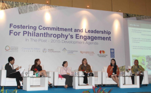Belinda Tanoto shares the mission and work of Tanoto Foundation at the UNDP session on philanthropy on April 13 2015.