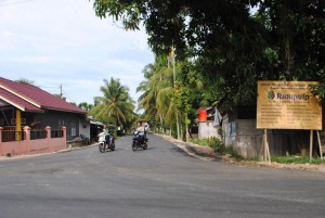 Rural growth: The arrival of APRIL Group in Kerinci has seen many improvements to the area, such as the paving of roads.