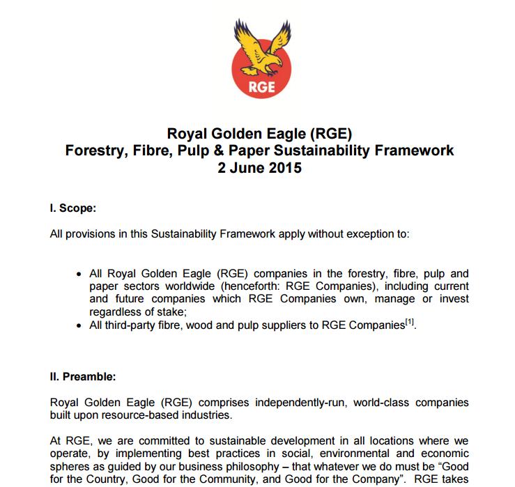 RGE Sustainability Framework