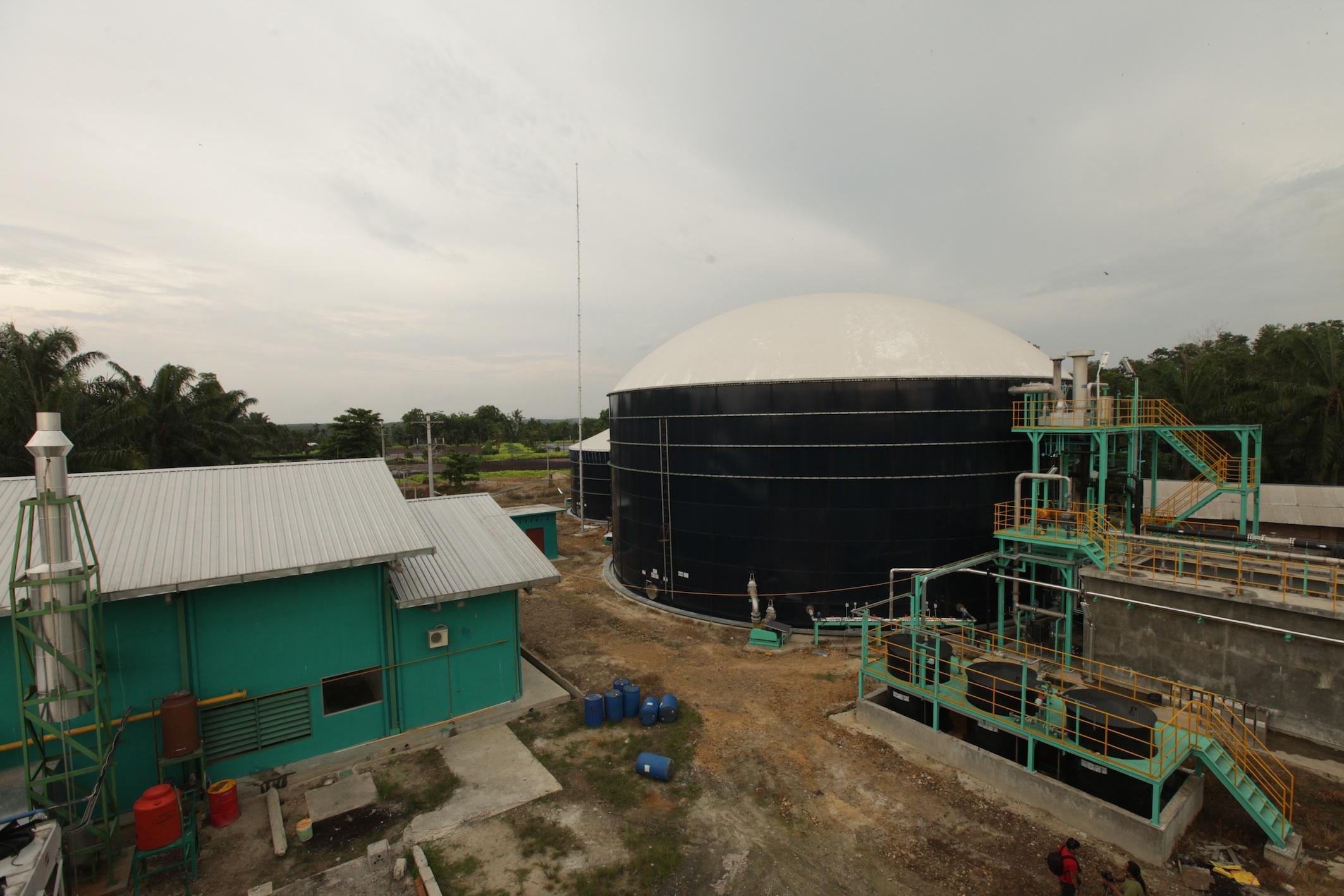 Asian Agri biogas power plant in Buatan, Riau.