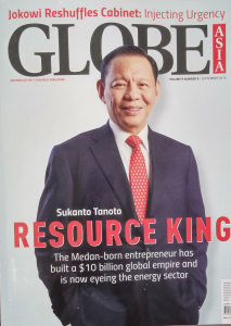 Sukanto Tanoto on the GlobeAsia cover