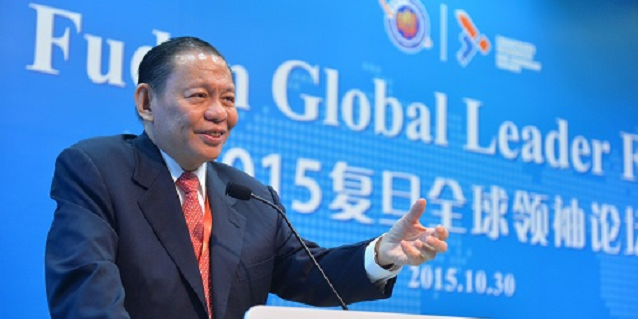 RGE Chairman Sukanto Tanoto speaks at 2015 Fudan Global Leader Forum