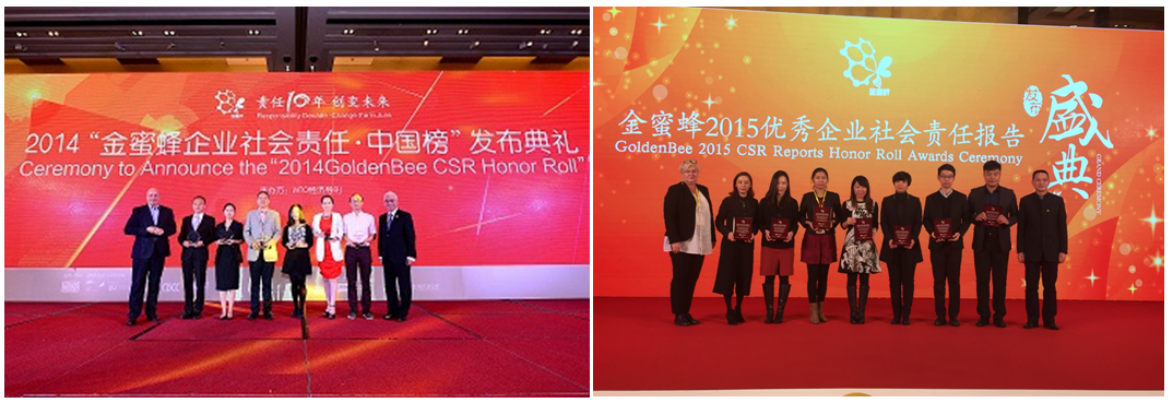 Asia Symbol featured on the GoldenBee CSR Reports Honour Roll in 2014 and 2015