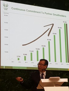 Managing Director Kelvin Tio on partnering more independent smallholders at the Indonesia Pavilion at COP21 Paris.