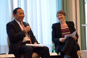 RGE Chairman Sukanto Tanoto adds the fourth 'C' to RGE's business principle: Climate. He spoke on a closed door panel moderated by UNDP Administrator and former New Zealand Prime Minister Helen Clark.