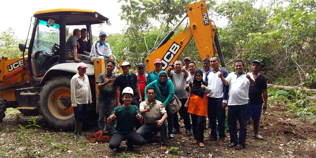 Volunteers from RAPP make inroads in infrastructure development for community