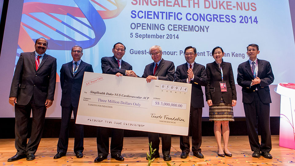 Throwback: Tanoto Foundation made a donation to the National Heart Research Institute Singapore.