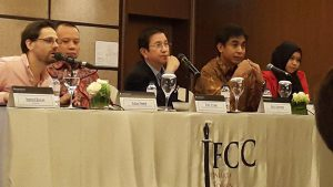 Mr Wenas discusses efforts taken against land and forest fires at JFCC 2015.