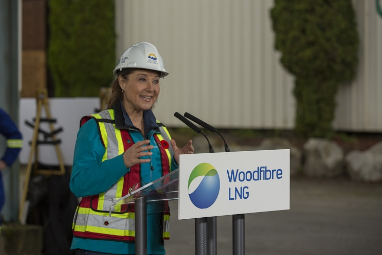 """Once this site is up and running, they will be shipping 2.1 million tonnes of LNG across the Pacific. They will be doing that every year for 25 years. And in doing so, they are going to displace coal. B.C. LNG will reduce global emissions by almost 2.5 million tonnes every single year, just from this site,"" B.C. Premier Christy Clark"