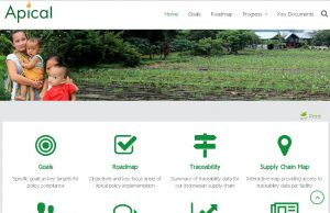 Examples of information available on the dashboard include traceability data for the company's Indonesia supply chain, and an interactive map providing access to traceability data per facility