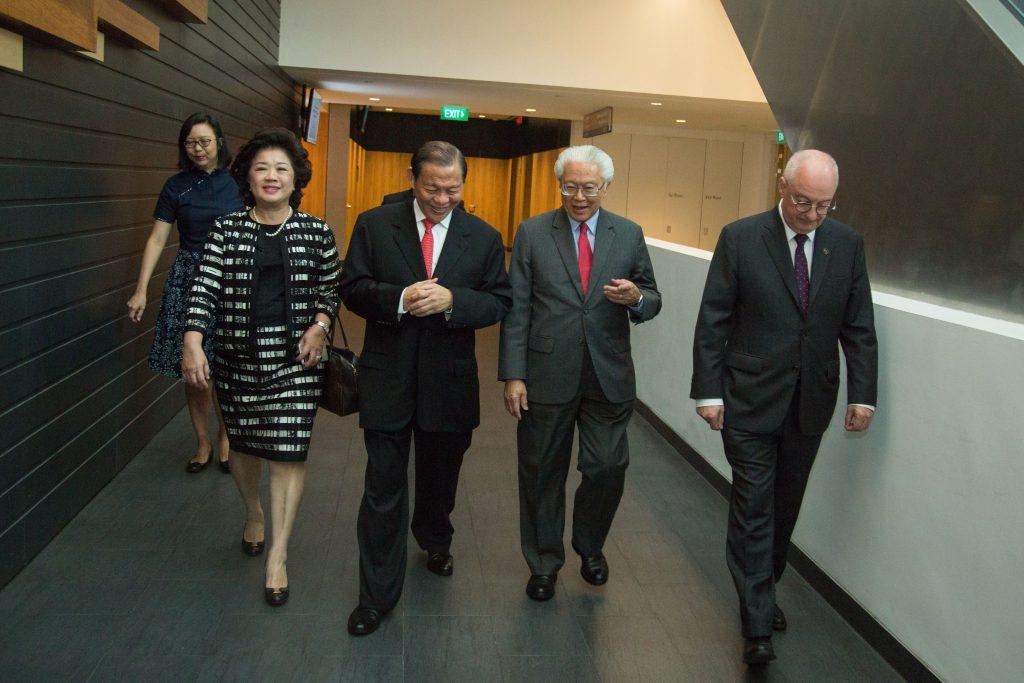 Tinah Sukanto Tanoto Founders Foundation Singapore President Tony Tan Arnoud De Meyer SMU Wharton Dialogue