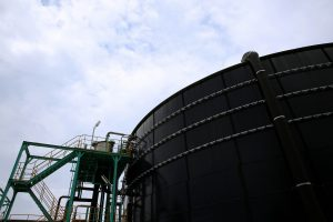One of Asian Agri's biogas power plants in Buatan, Riau, Indonesia.