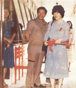 Tanoto Foundation founders Sukanto Tanoto and Tinah Bingei Tanoto open a school in Besitang in 1981.
