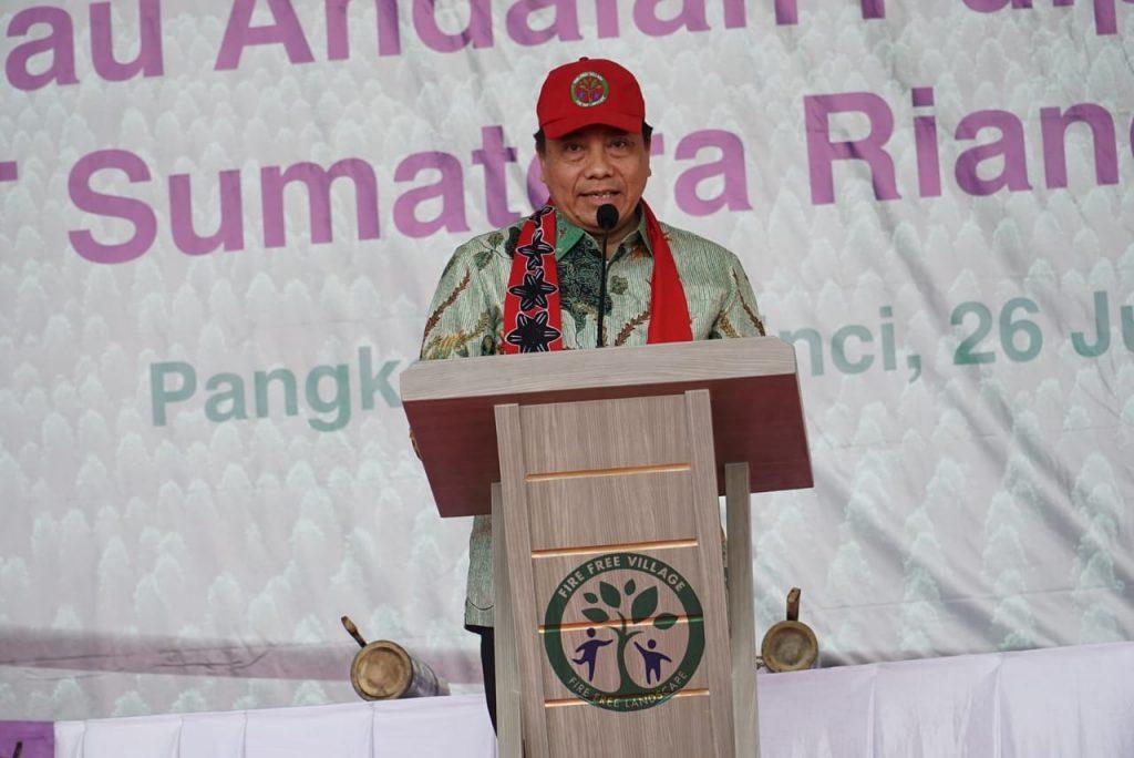 RAPP President Director Sihol Aritonang Speech at Fire Free Village Programme FFVP ceremony