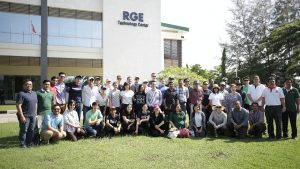 Wharton and SMU students visit RGE companies' operations in Pangkalan Kerinci.