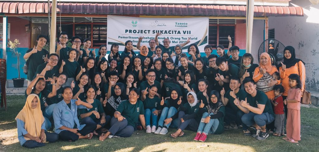 Project Sukacita 2019 Tanoto Scholars Group photo