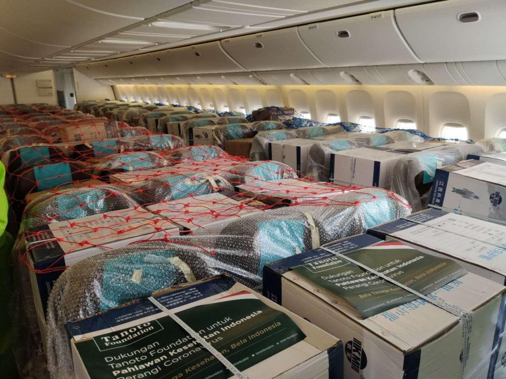 RGE Tanoto Foundation Chartered Flight for PPE Donations to Indonesia