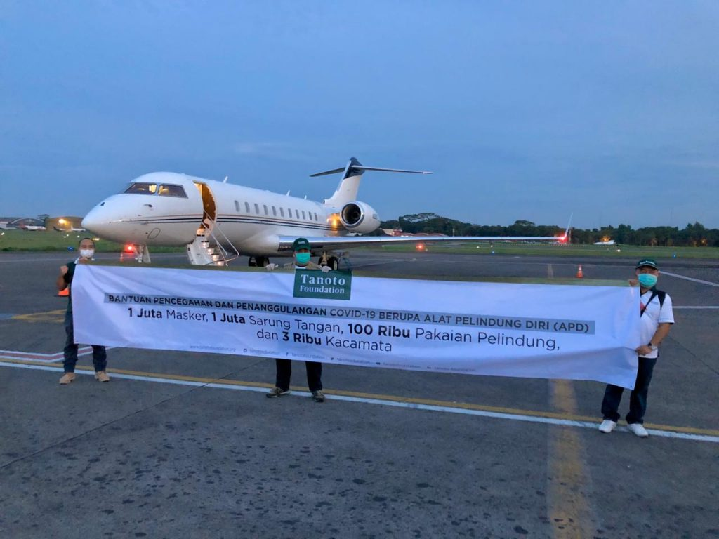 Tanoto Foundation Mask Donation to Indonesia to fight COVID19
