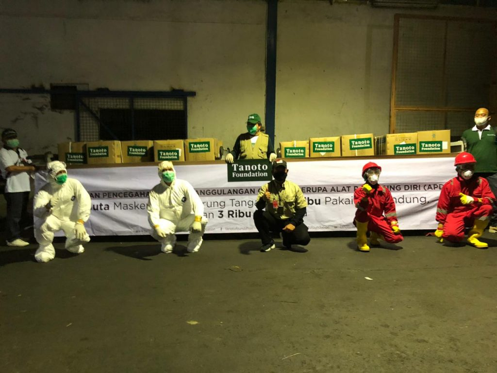 Tanoto Foundation donates masks to Indonesia to fight COVID19