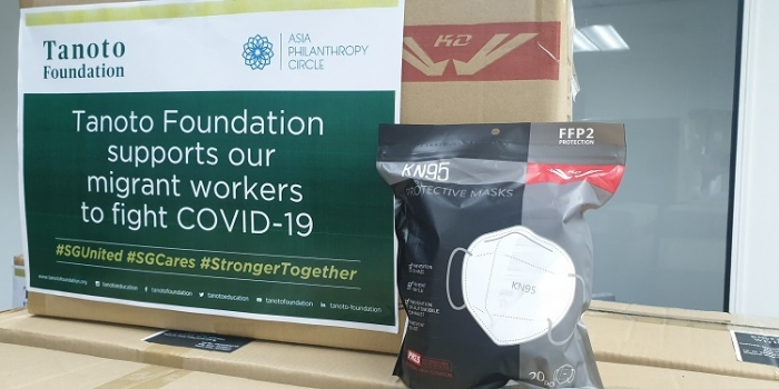Tanoto Foundation Donates PPEs To Help Singapore's Migrant Worker Community
