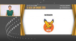RGE ALB SEA Law Awards 2020 Winner