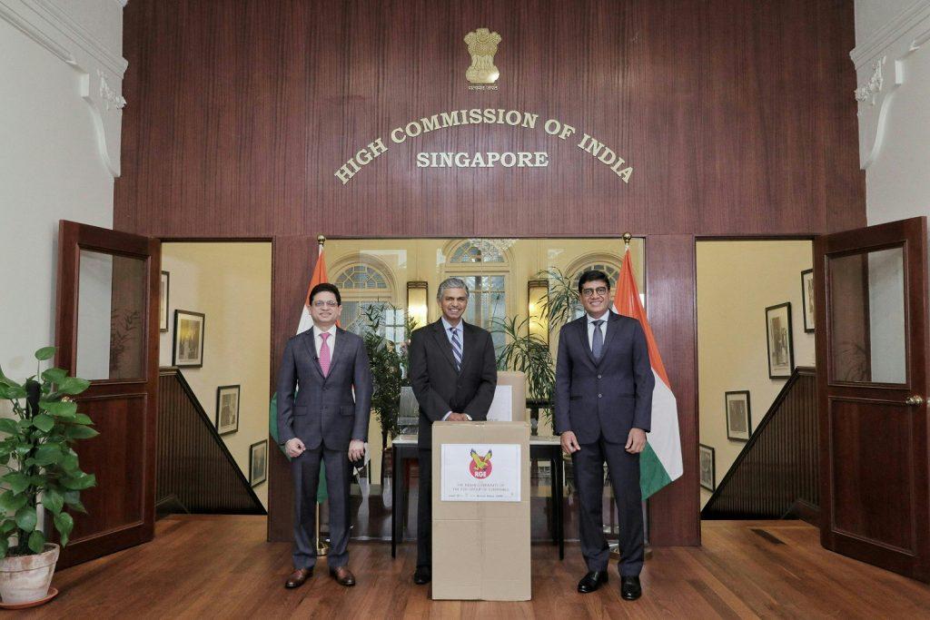 Ratnesh Bedi P. Kumaran Praveen Singhavi High Commission of India Singapore