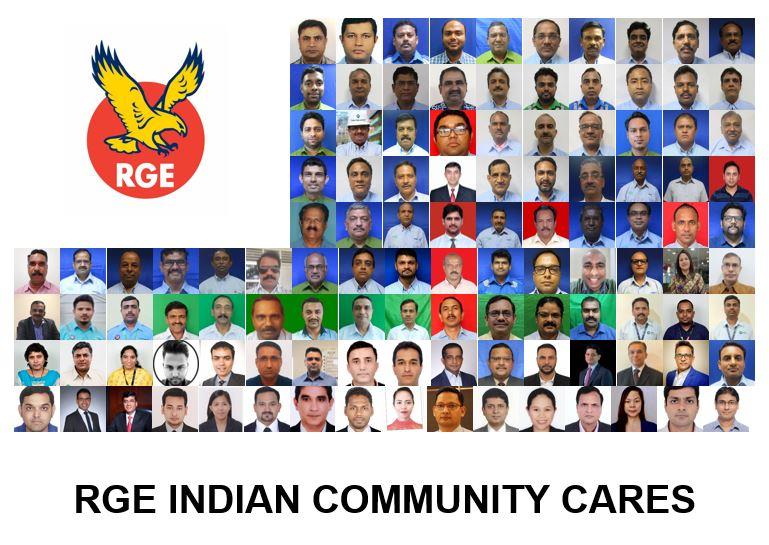 Royal Golden Eagle RGE Indian Community Cares Ventilator Donation